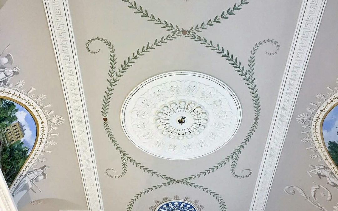 Hand painted ceiling at Cleveland House