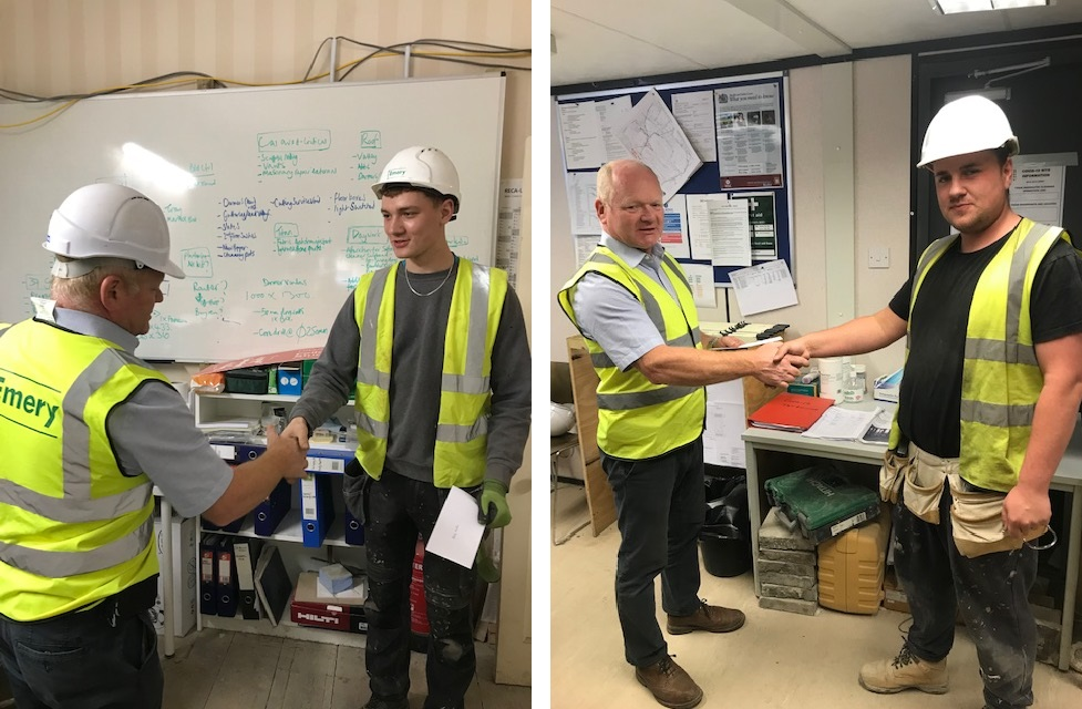Congratulations Stanley and Adam on completing your 1st year apprenticeship